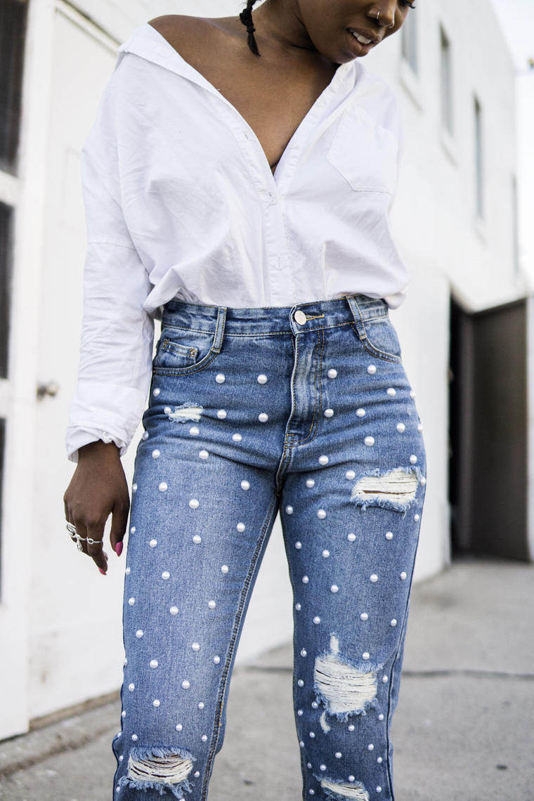Jeans + Pearls